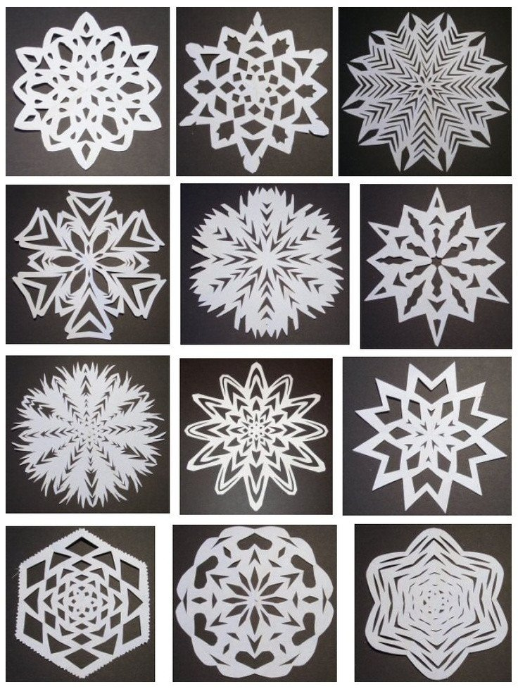 Paper Cut Out Designs 24 Best Snowflakes Templates Images On Pinterest