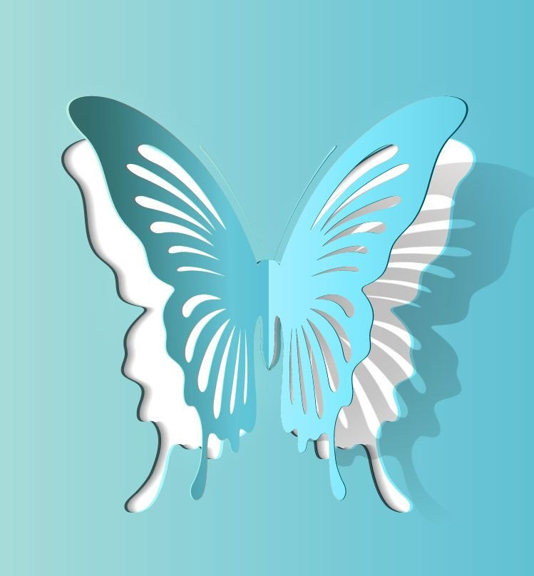 Paper Cut Out Designs butterfly Paper Cutting Vector 2 1000vectors