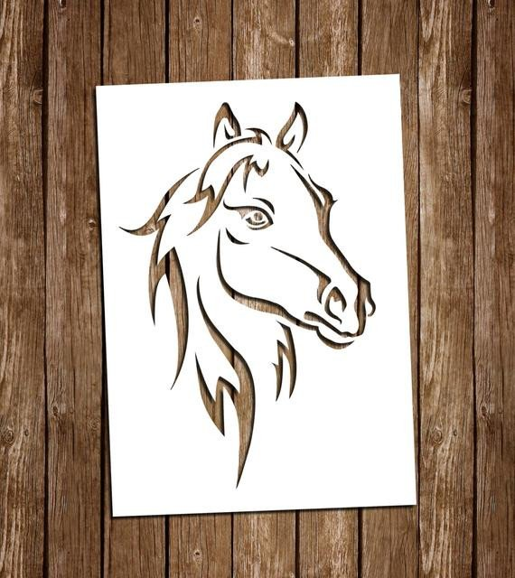 Paper Cut Out Designs Horse Svg Cutting Files Pdf Paper Cutting Template Horse