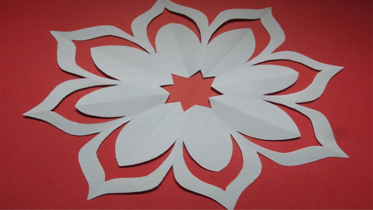 Paper Cut Out Designs How to Make Simple & Easy Paper Cutting Flower Designs