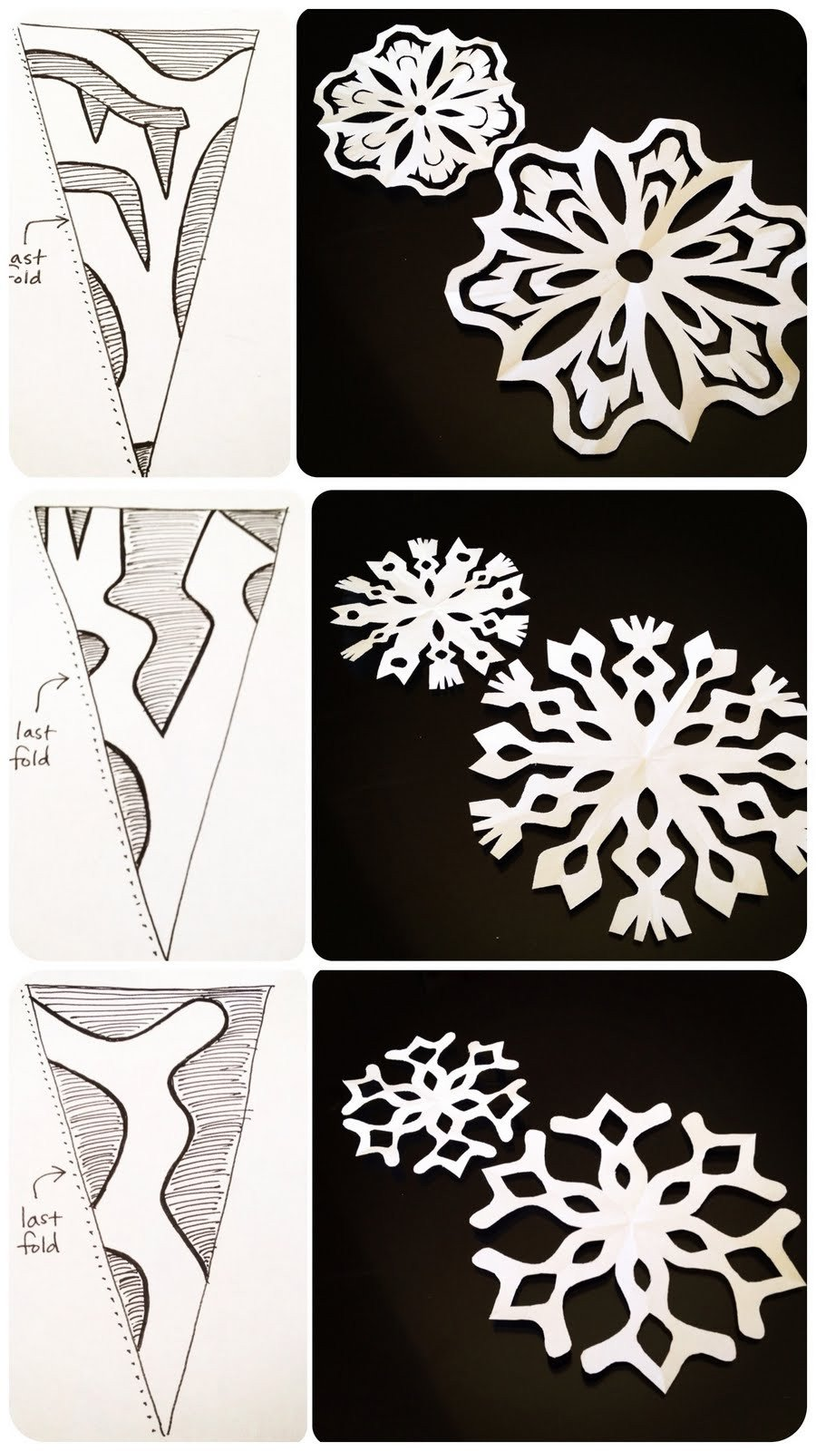 Paper Cut Out Designs Life is Sweet Paper Snowflakes 101