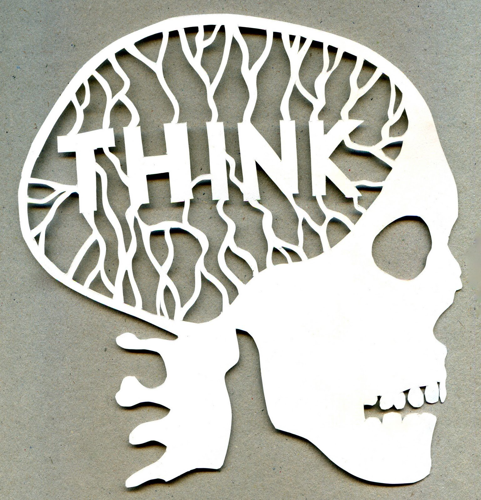 Paper Cut Out Designs Think Paper Cut Out Scull