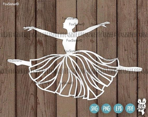 Paper Cut Outs Templates Ballerina Svg Papercut Template Ballet Dancer Svg Cut File
