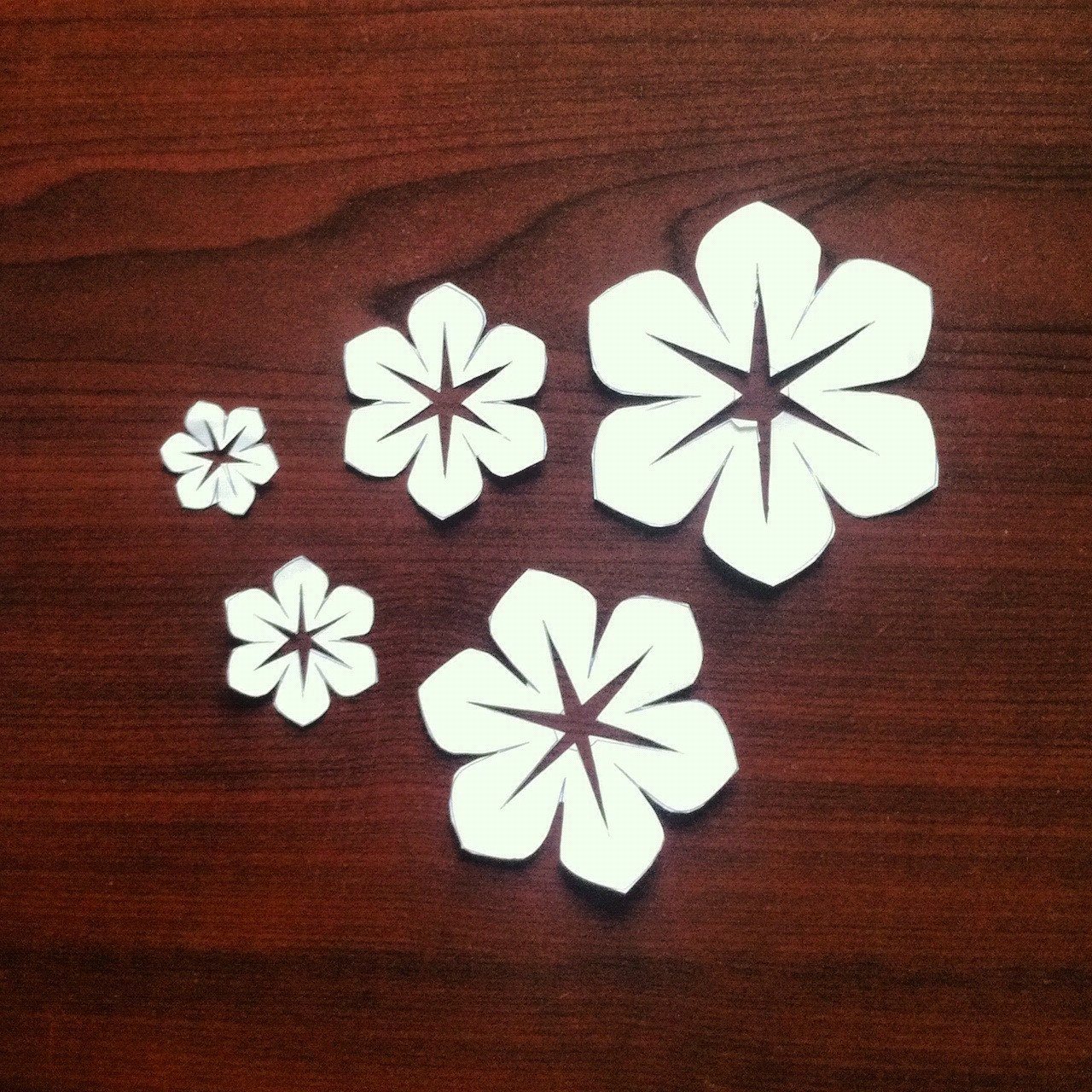Paper Cut Outs Templates Fabric Flowers Version 2