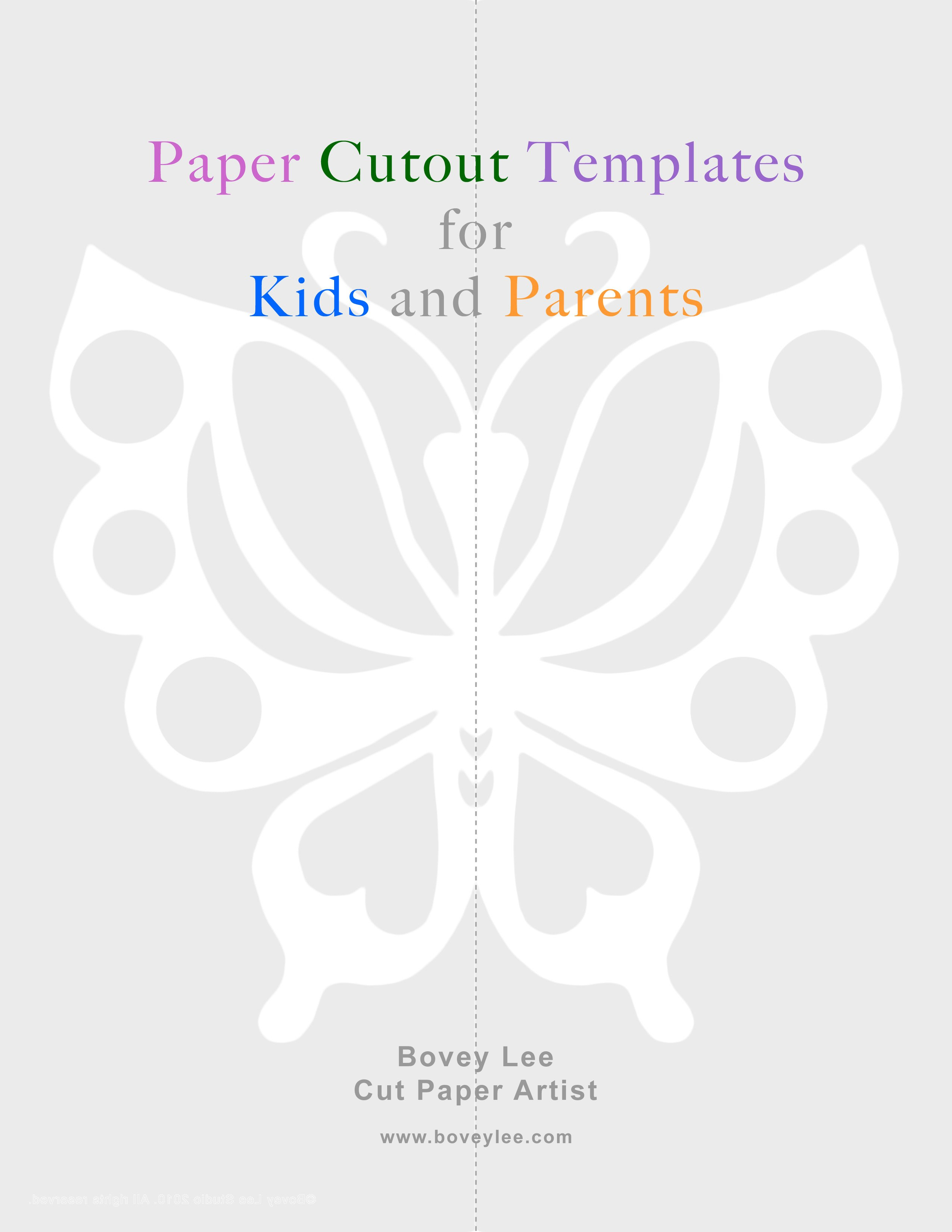 Paper Cut Outs Templates Free Paper Cutout Templates for Kids and Parents