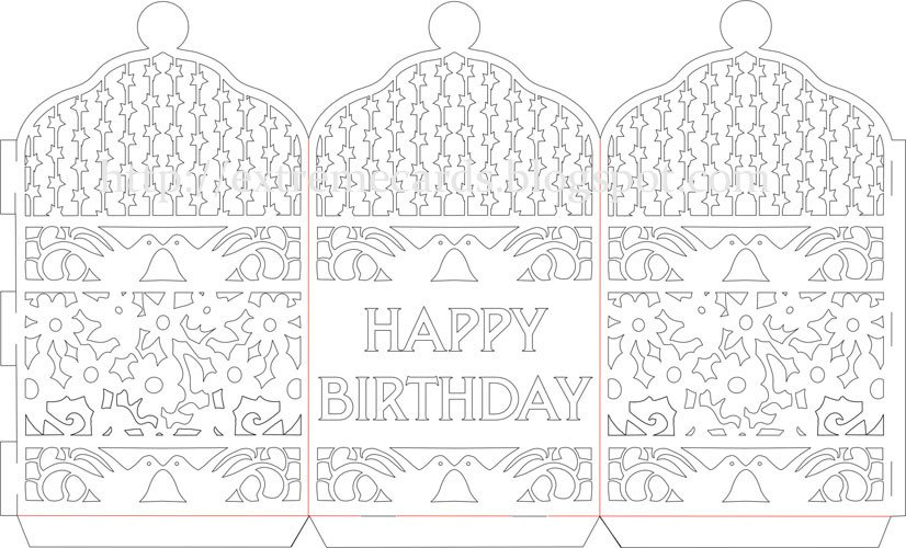 Paper Cut Outs Templates Happy Birthday Paper Cut Lantern Tutorial