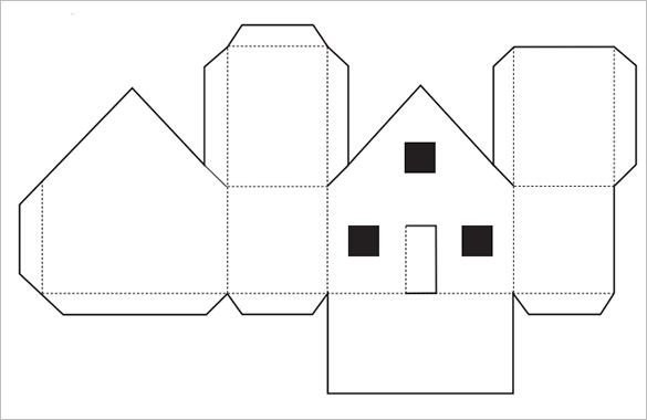 Paper Cut Outs Templates Paper House Template 19 Free Pdf Documents Download