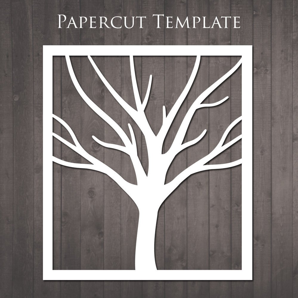 Paper Cut Outs Templates Tree Papercut Template Diy Paper Cut