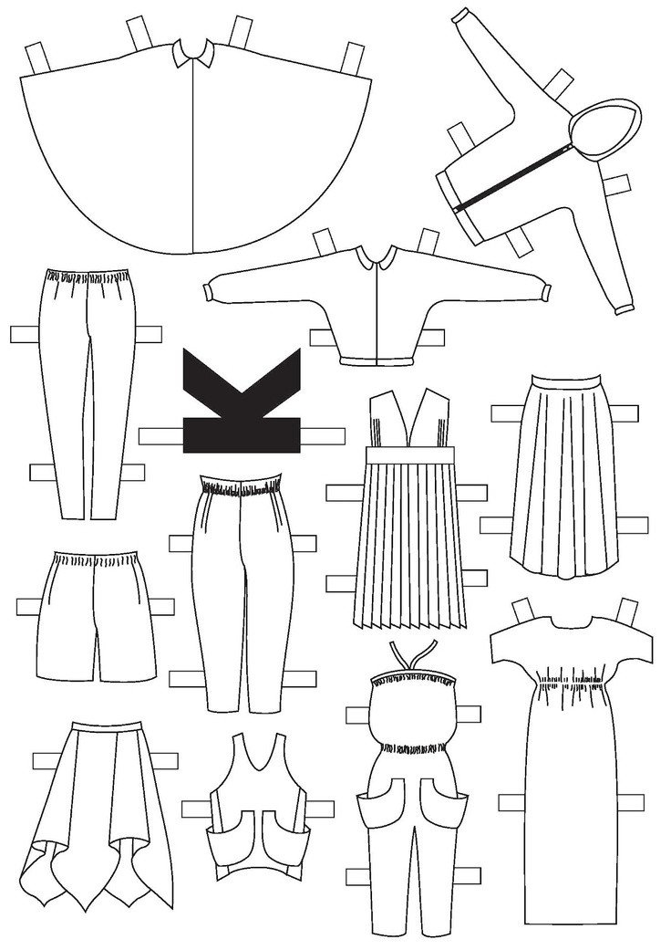 Paper Doll Clothes Template 76 Best Paper Dolls for My Girls Images On Pinterest