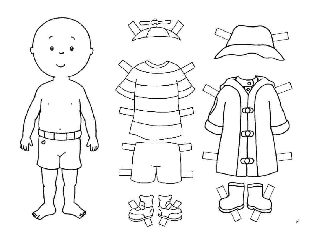 "Paper Doll Clothes Template Beneath the Wraps ""just What I've Always Wanted"""