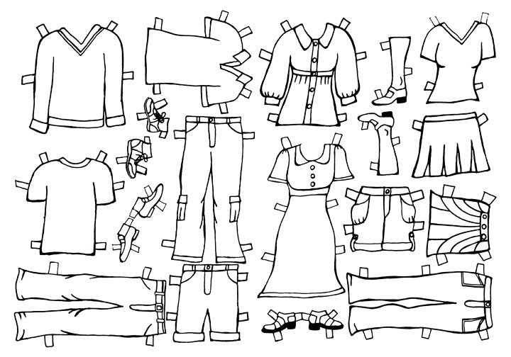 Paper Doll Clothes Template Beth & John S Wedding Paper Doll Clothes