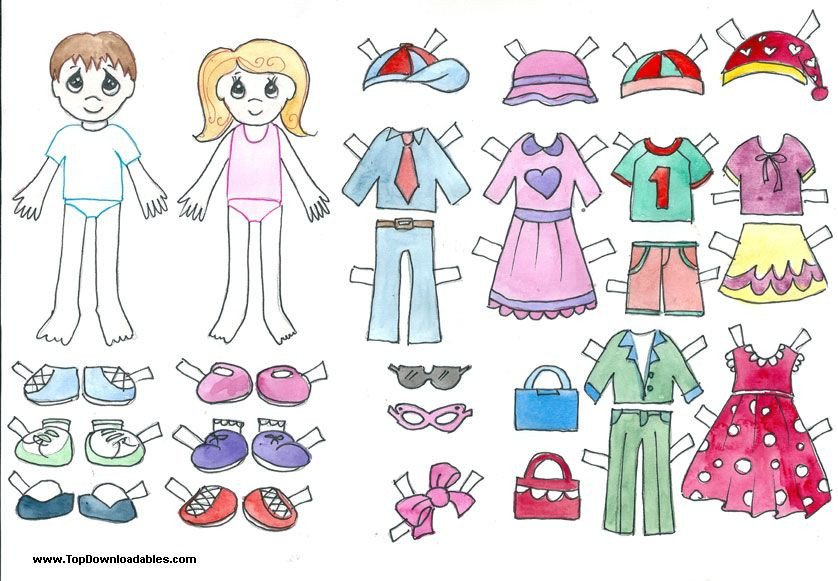 Paper Doll Clothes Template Free Printable Paper Doll Cutout Templates for Kids and