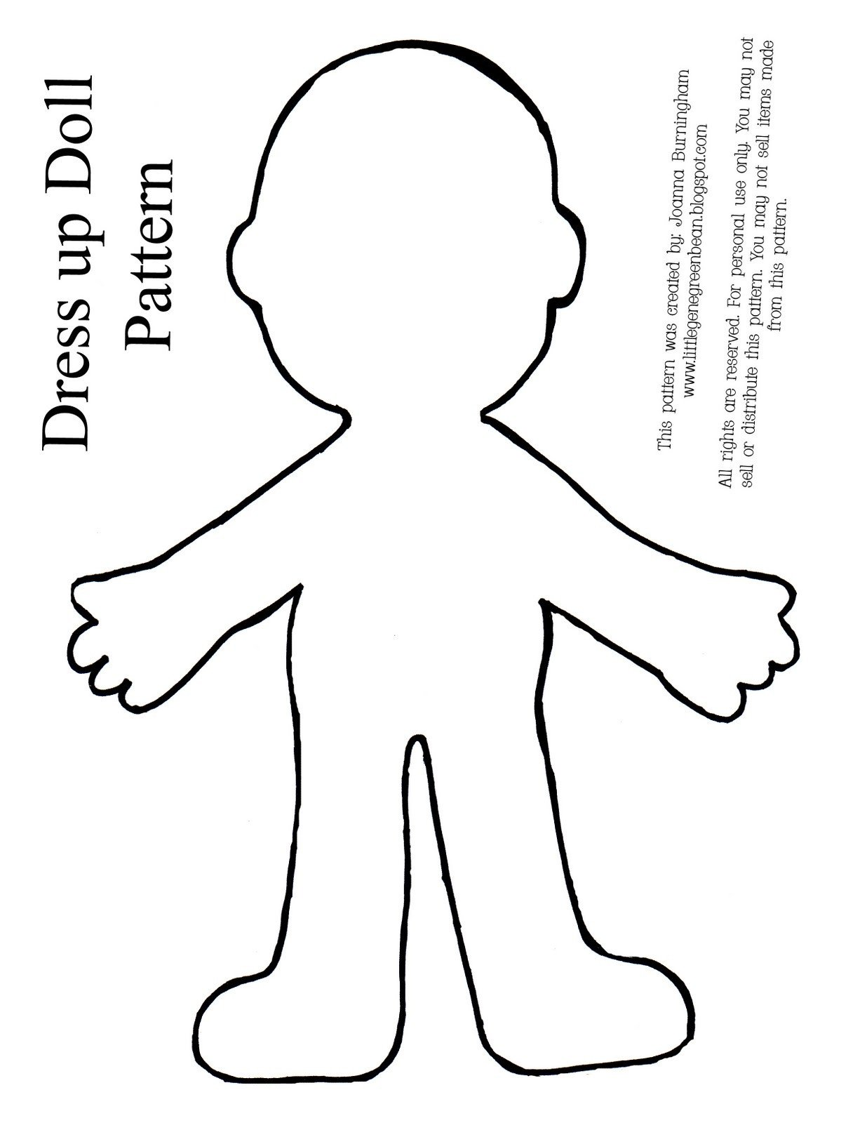 Paper Doll Clothes Template Little Gene Green Bean Four Quick Easy and Cheap