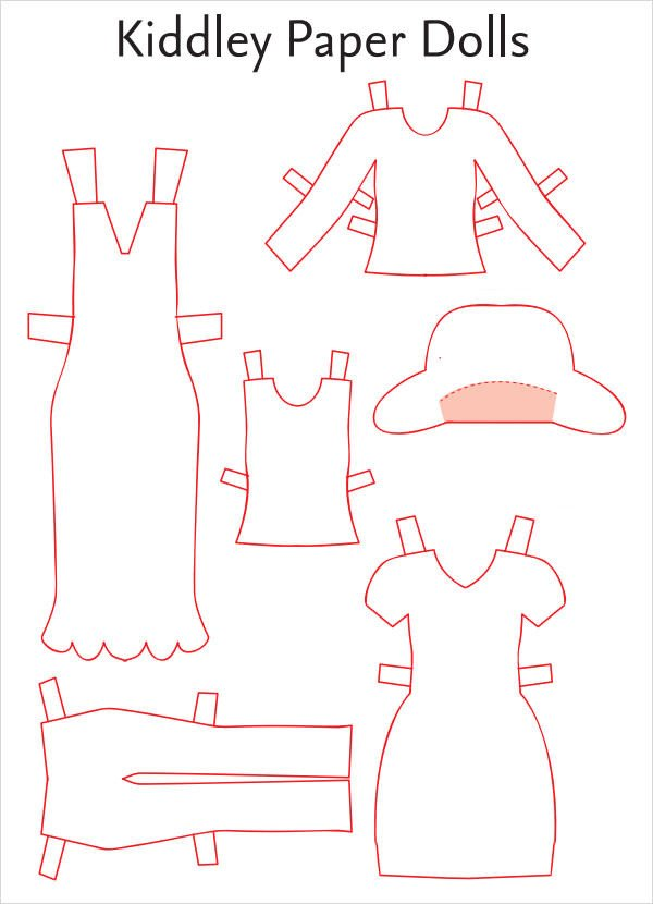 Paper Doll Clothes Template Paper Doll Sample 7 Documents In Pdf Word Eps