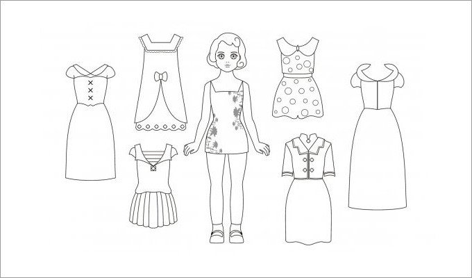 Paper Doll Clothes Template Paper Dolls