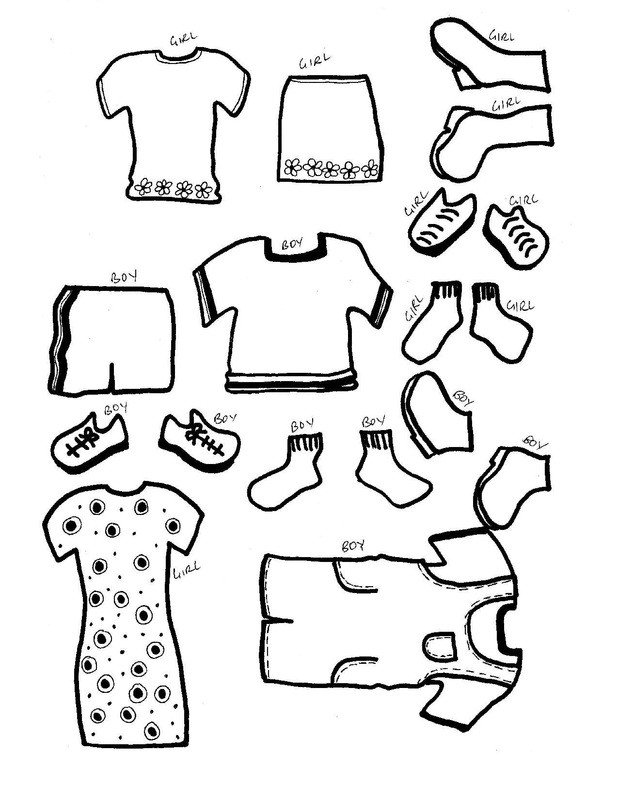 Paper Doll Clothes Template Paper Dolls with Clothes