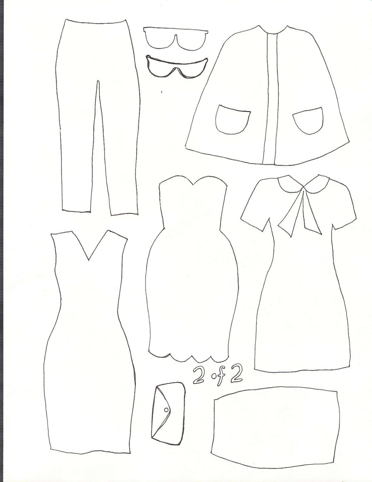 Paper Doll Clothes Template Smile and Wave Dress Up Felt Board Tutorial and Template