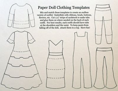 Paper Doll Clothes Template Tac Savvy Projects for People On the Go Paper Dolls by