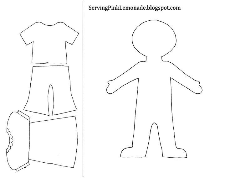 Paper Doll Clothes Template Template for Girl and Clothes Also Mailbox Tree for
