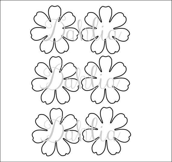 Paper Flower Petal Templates Diy Printable Flower Templates Pdf Petal Templates Diy
