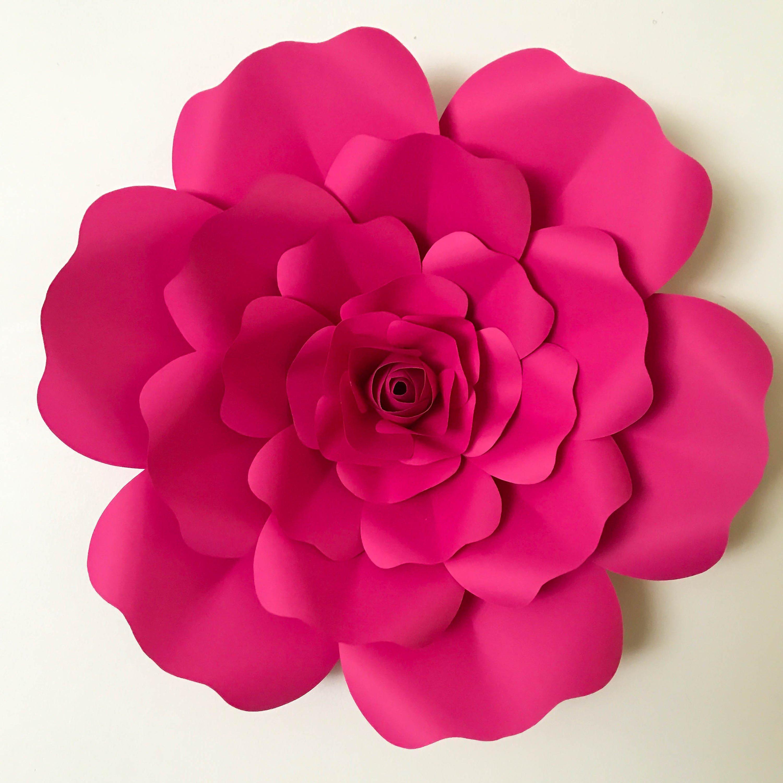 Paper Flower Petal Templates Svg Petal 36 Paper Flower Petal Template with Base Digital