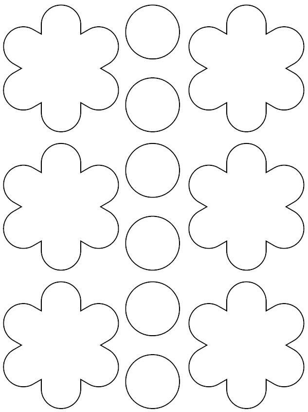 Paper Flower Template Printable Best 25 Printable Flower Ideas On Pinterest