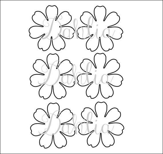 Paper Flower Template Printable Diy Printable Flower Templates Pdf Petal Templates Diy