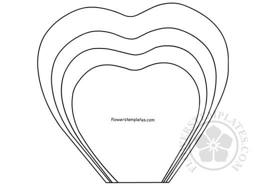 Paper Flower Template Printable Flower Petal