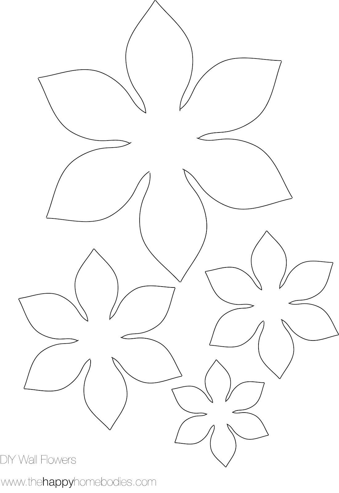 Paper Flower Template Printable Flower Template On Pinterest