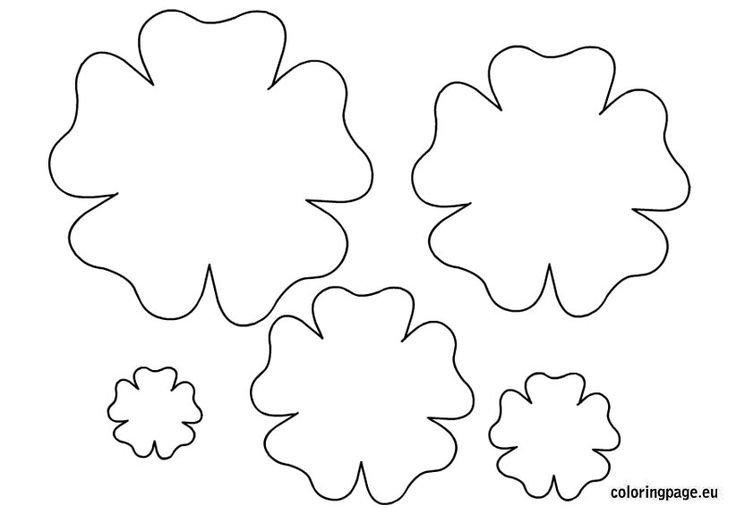 Paper Flower Template Printable Flower Template Printable Spring Pinterest
