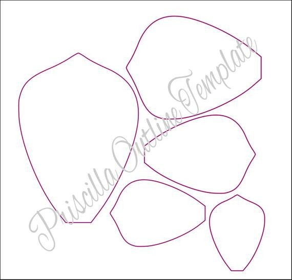 Paper Flower Template Printable Giant Paper Flowers Giant Paper Flower Templates