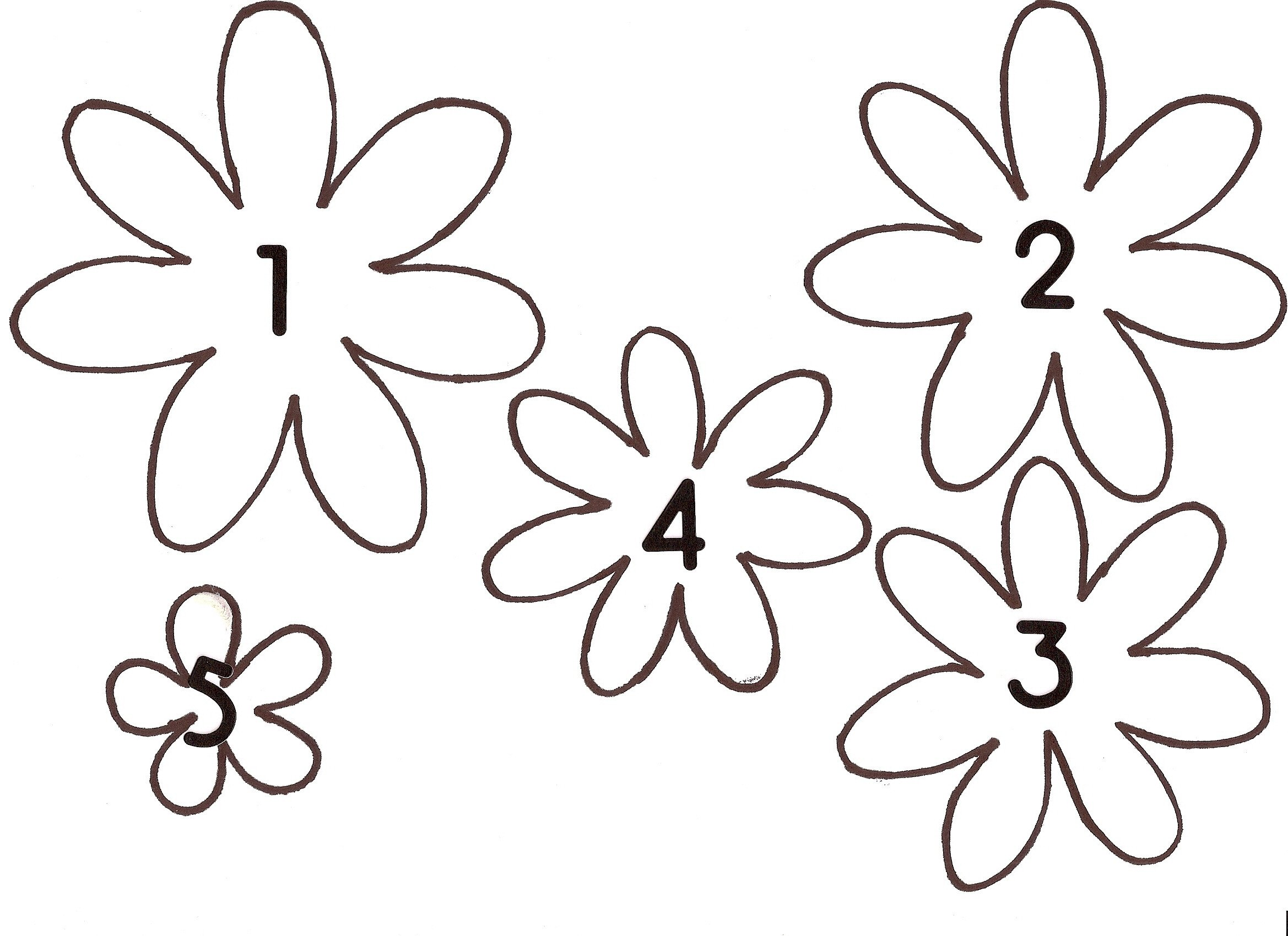 Paper Flower Template Printable Make A Spring Paper Wreath