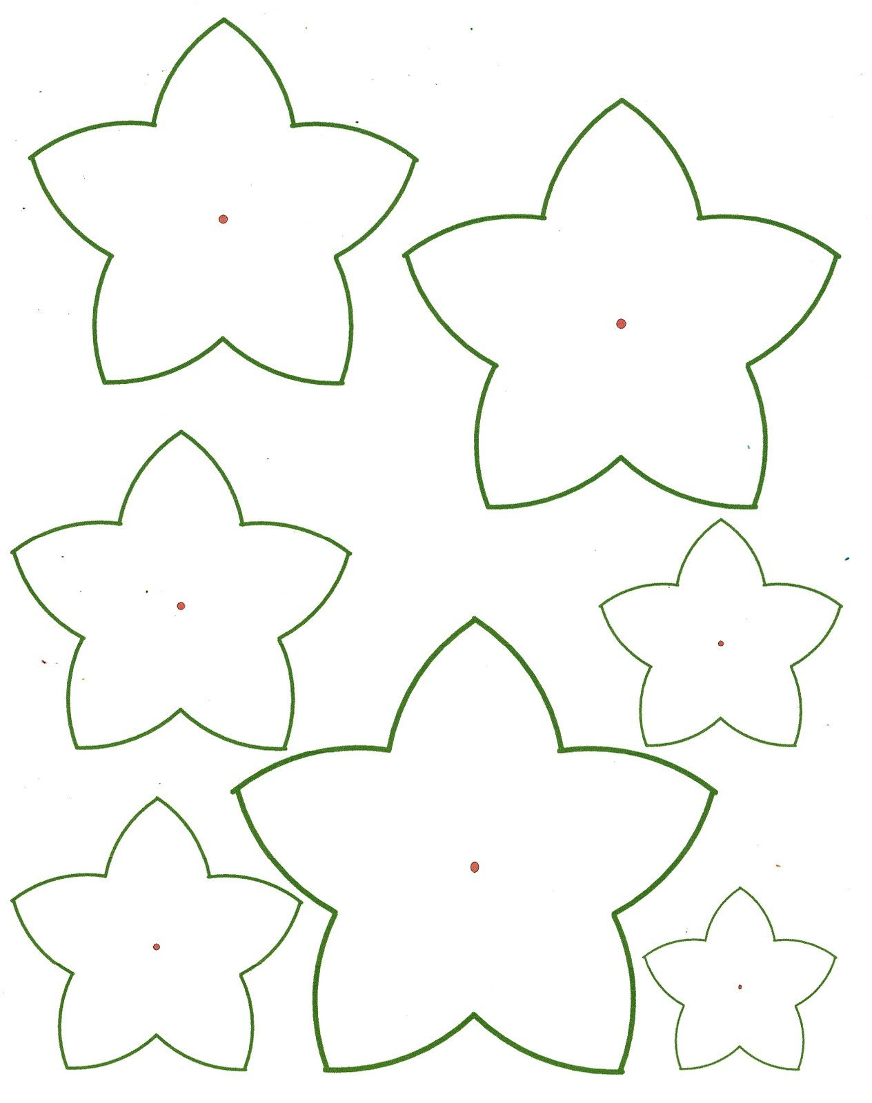 Paper Flower Template Printable Paper Flower Templates