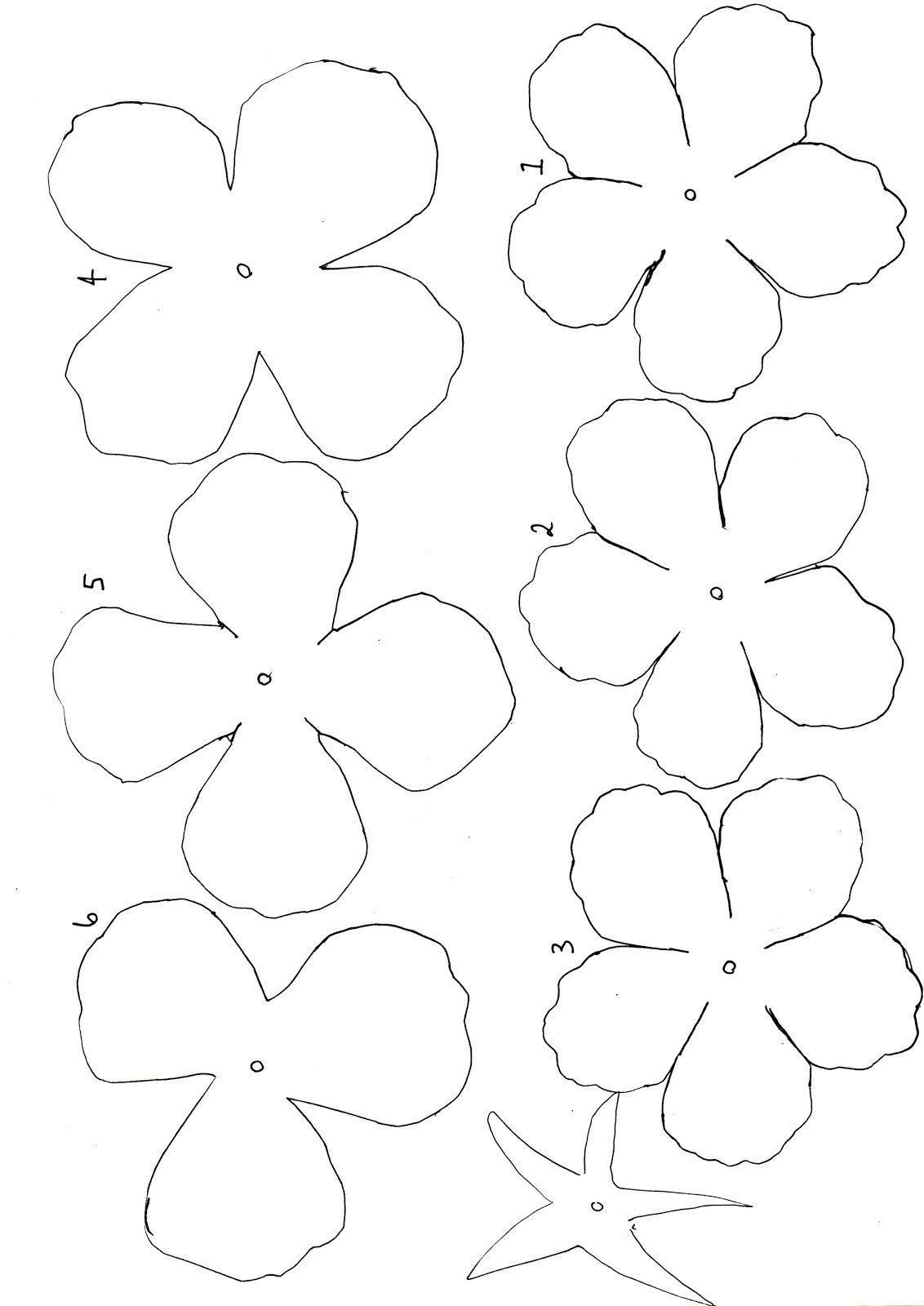 Paper Flower Template Printable Paper Roses Template Twigg Studios