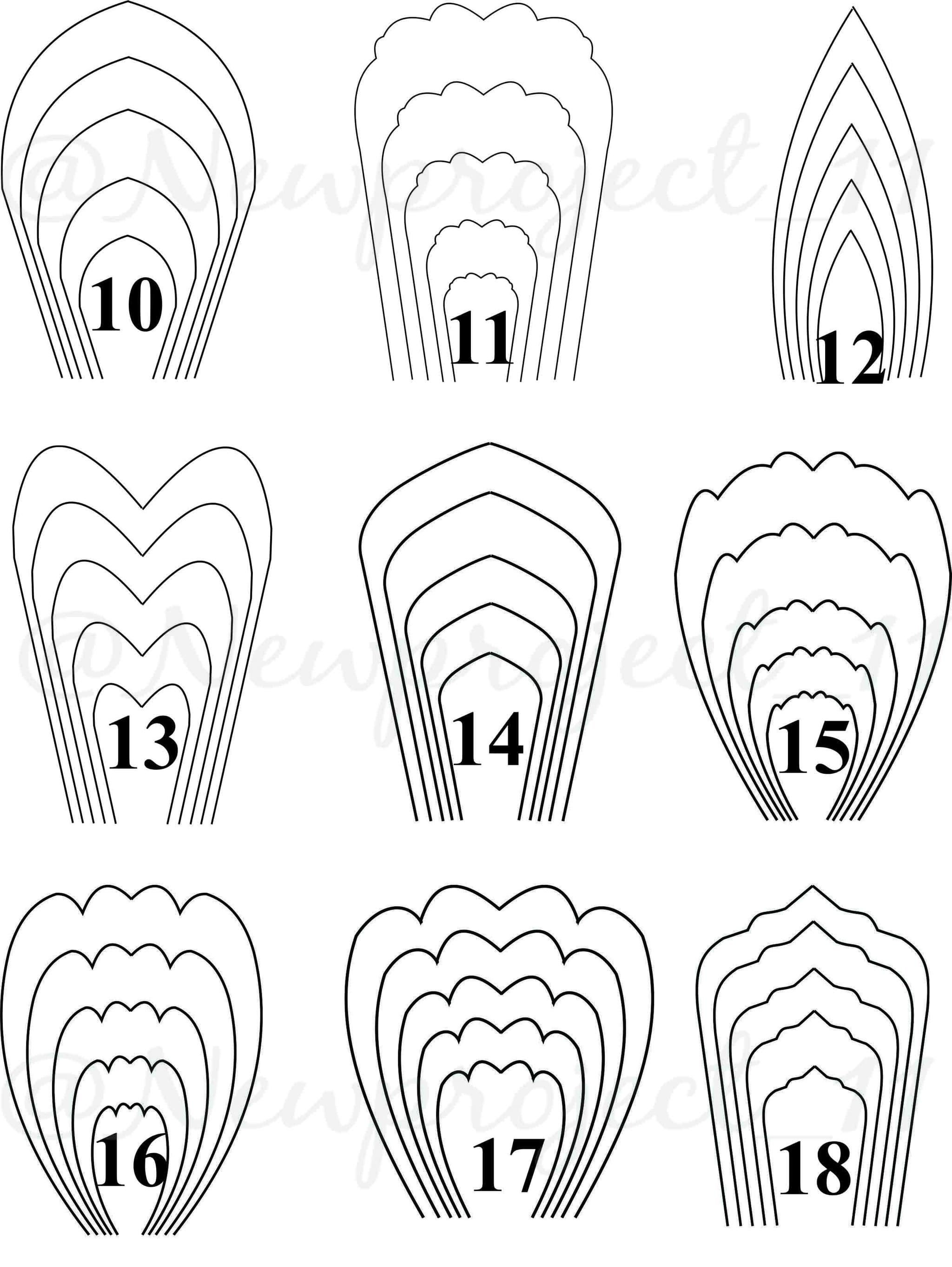 Paper Flower Template Printable Template Large Paper Flower Paper Flawer Lover