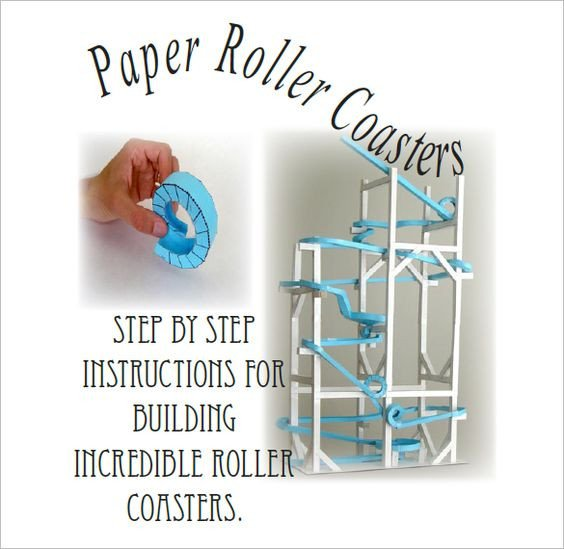 Paper Roller Coaster Printout 7 Paper Roller Coaster Templates Free Word Pdf