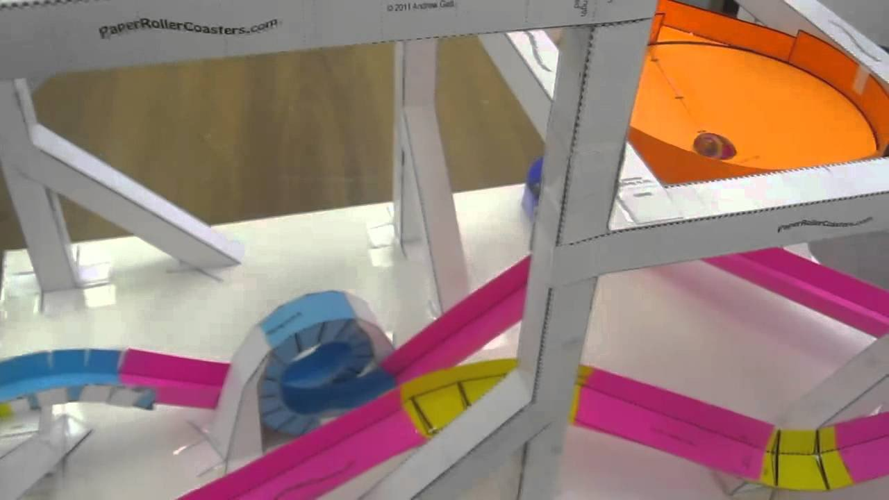 Paper Roller Coaster Printout Double Threat Paper Roller Coaster