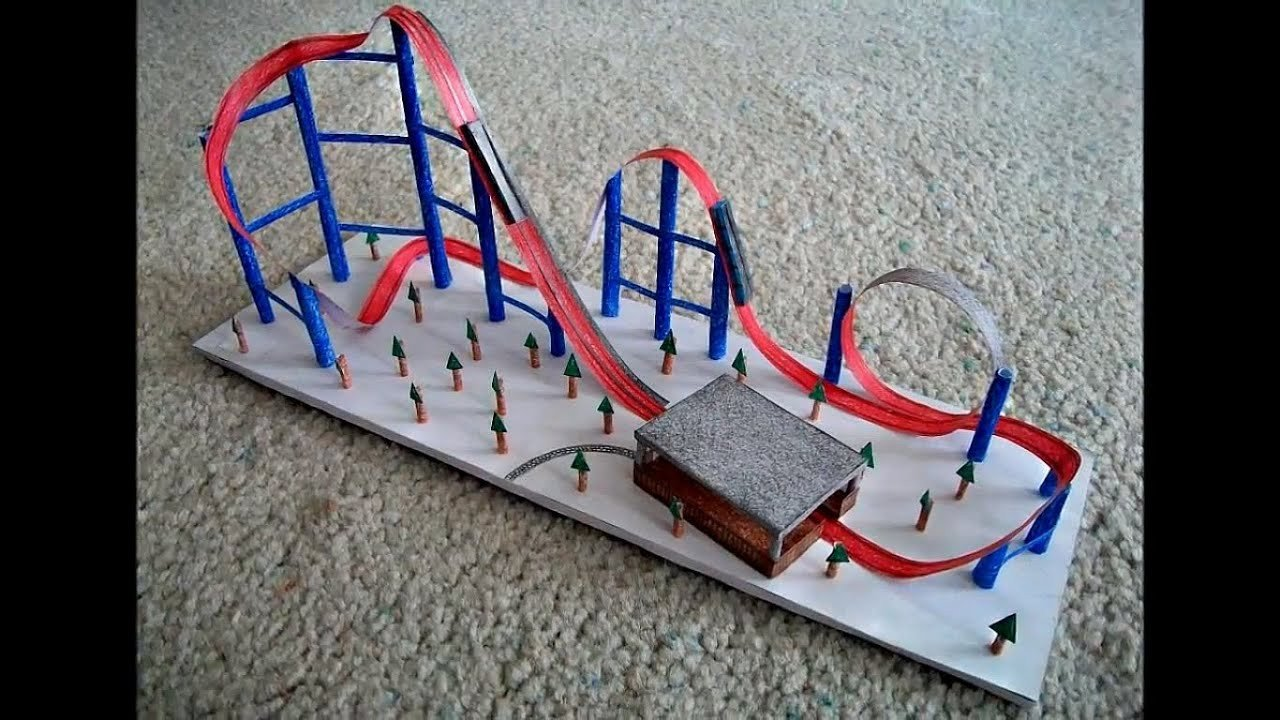 Paper Roller Coaster Printout Paper Model Of A Roller Coaster