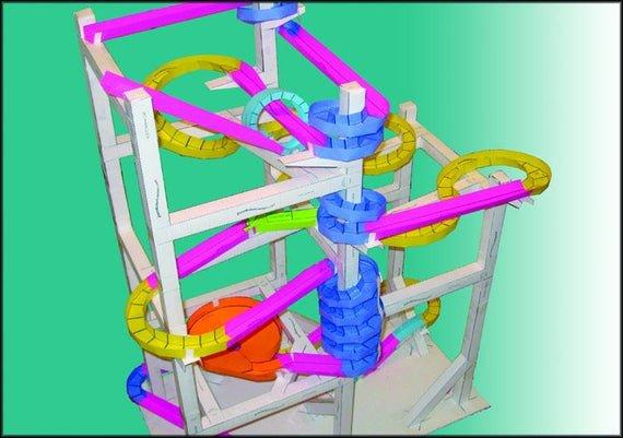 Paper Roller Coaster Printout Paper Roller Coaster Templates