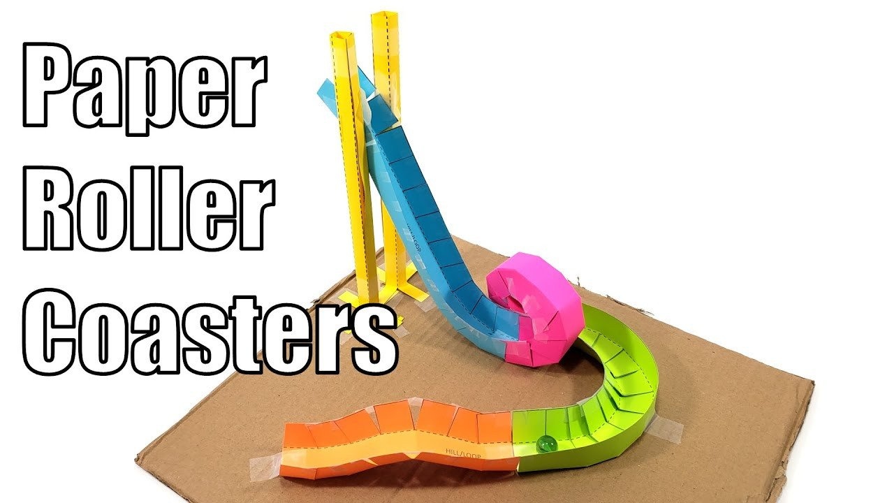 Paper Roller Coaster Printout Paper Roller Coasters Fun Stem Activity