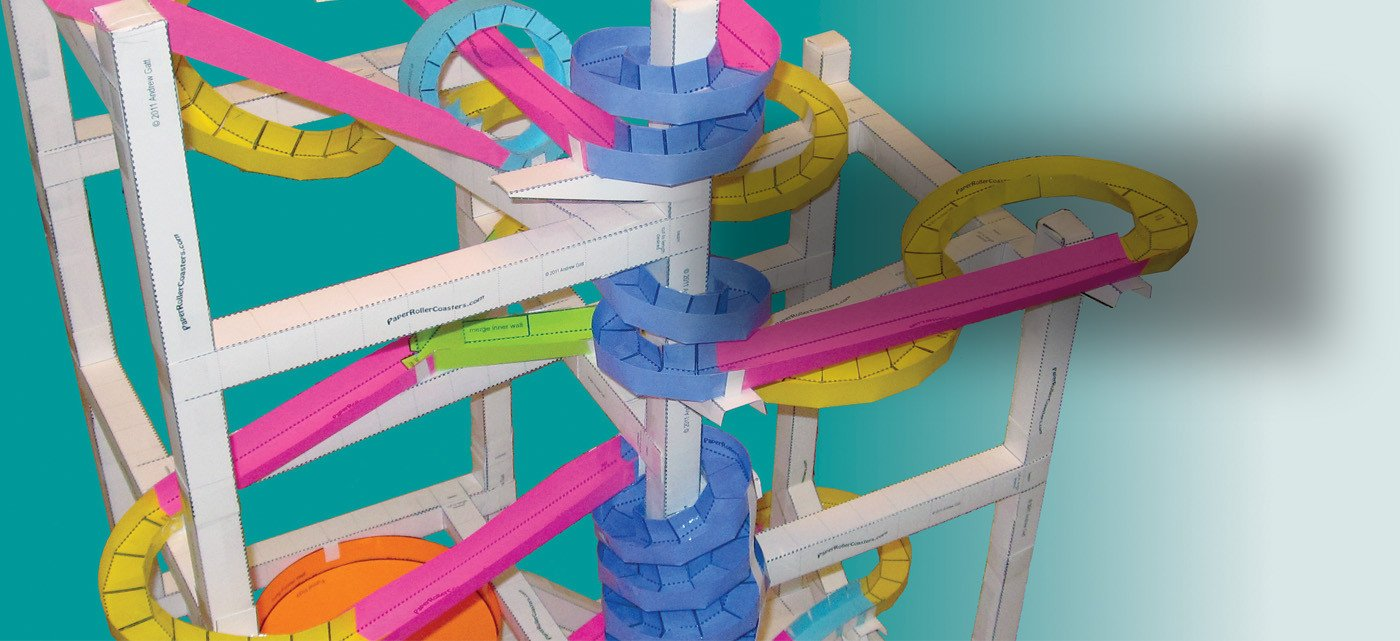Paper Roller Coaster Printout Paper Roller Coasters