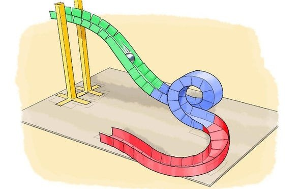 Paper Roller Coaster Printout Paper Roller Coasters Scientific American