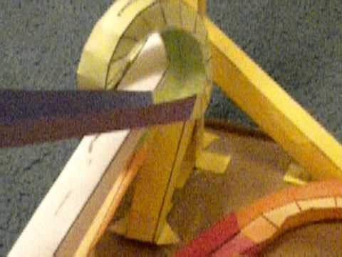 Paper Roller Coaster Template My First Marble Run Using Paper Roller Coaster Templates