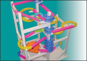 Paper Roller Coaster Template Paper Roller Coasters Marble Tracks Made From Paper by