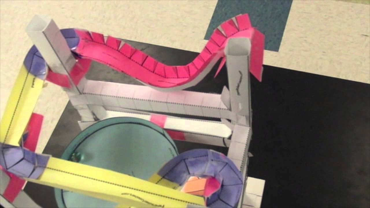 Paper Roller Coaster Templates Paper Coaster Example