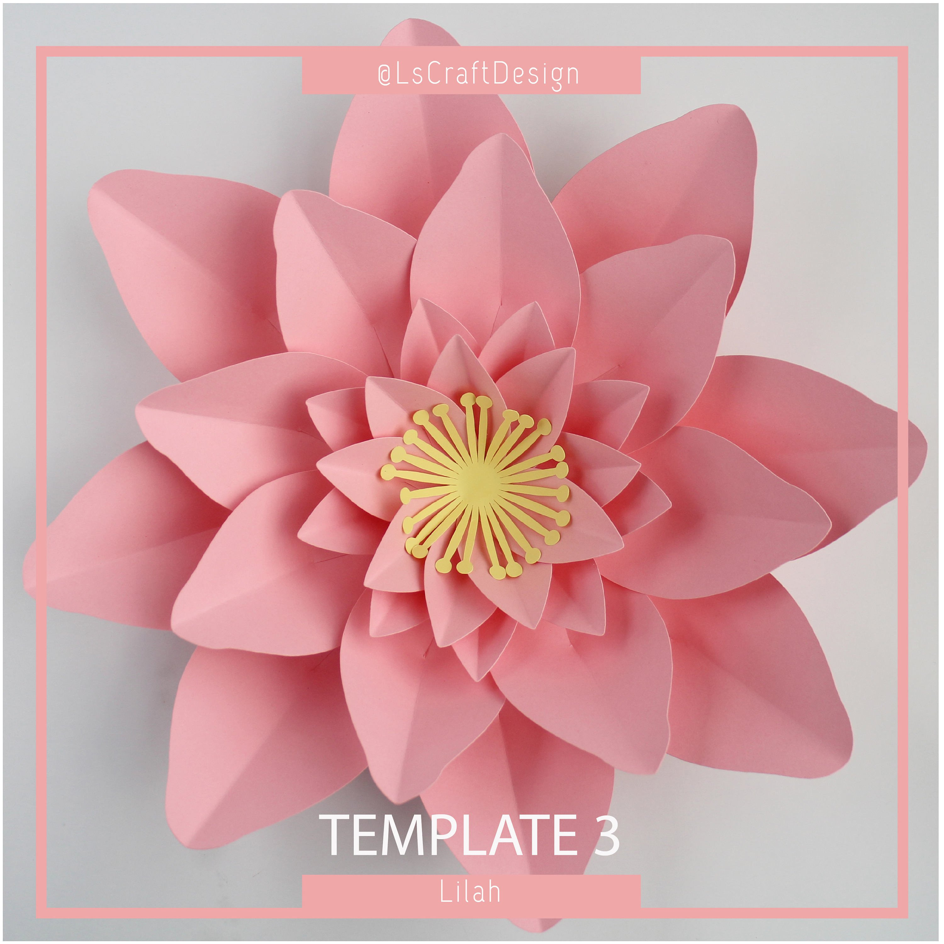 Paper Rose Template Pdf Paper Flower Template Pdf Paper Flower Diy Paper Flower