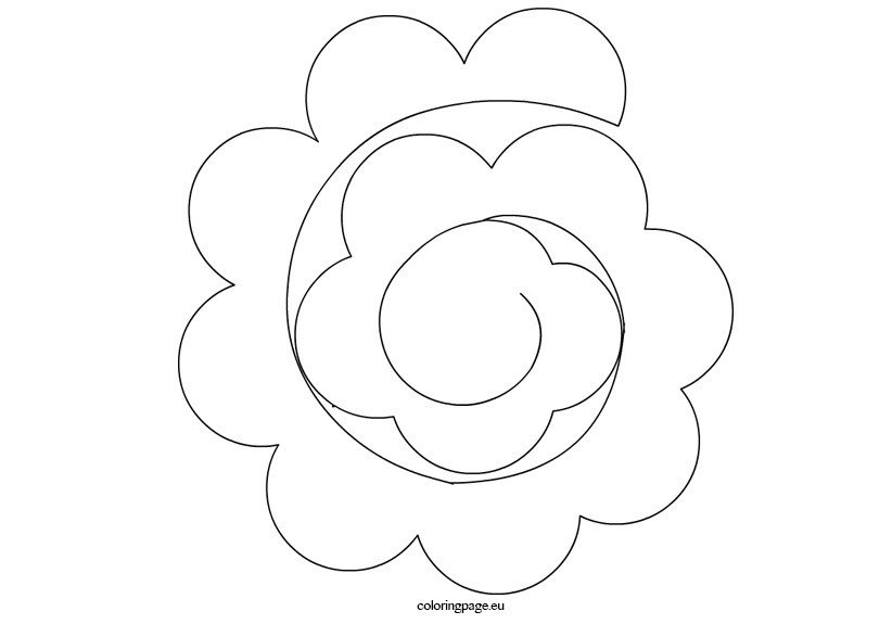 Paper Rose Template Pdf Paper Flower Templates