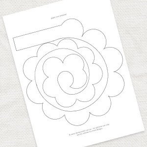 Paper Rose Template Pdf Paper Rose Template Free