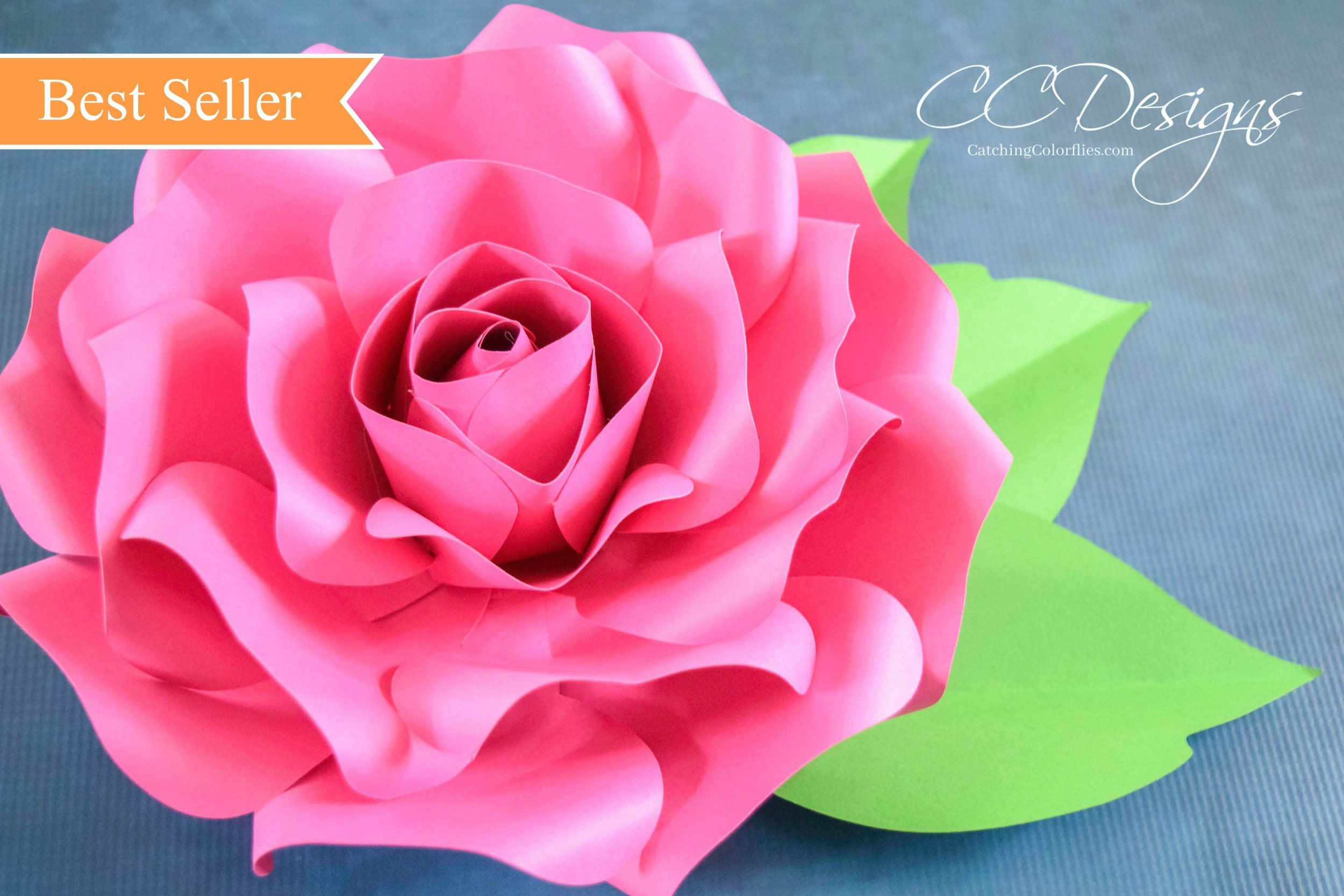 Paper Rose Template Pdf Paper Roses Giant Paper Rose Template Printable Pdf Flower