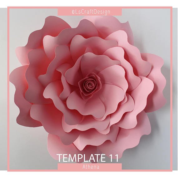 Paper Rose Template Pdf Pdf Paper Flower Paper Flower Template Giant Paper Flower